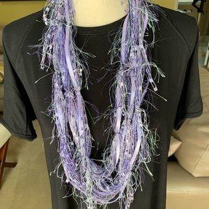 Handmade lavender infinity scarf